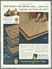 1935 ARMSTRONG LINOLEUM advertisement, QUAKER RUGS
