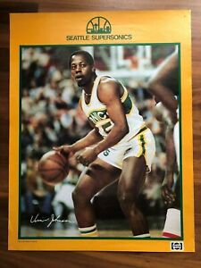 VINNIE JOHNSON 1980 Poster SEATTLE SUPERSONICS Giveaway