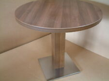 Height Adjustable table Wenge Top 90cm Diam