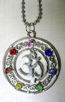 Halskette OM Chakra Necklace Amulett Bija Mantra Hinduismus Buddhismus AUM