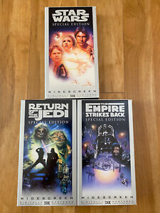 Star Wars Trilogy Widescreen Edition VHS empire strikes back return of the jedi