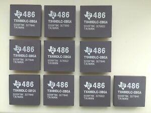 TX486DLC-33BGA Vintage CPU TI 80386 to 486 upgrade 486 CPU with 386 pinout GOLD