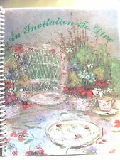 An Invitation To Dine 1977 2003 by Susan Eichler Cookbook Recipes Hinsdale, IL