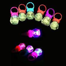 Party Favors LED Light Up Flashing Finger Rings Glow  Glow Kids Toys 10pcs