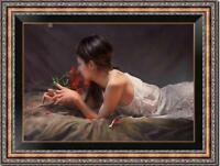 """Hand painted Original Oil Painting art Portrait chinese girl on canvas 24""""x36"""""""