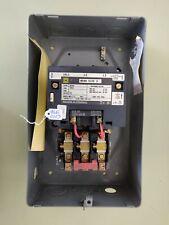 Square D 8536 Sdg1 Motor Starter 110120v Coil Nema 2 B45 Heaters Amp Enclosure