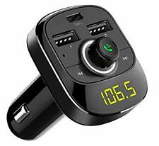 Bluetooth Car FM Transmitter Audio Adapter Receiver Hands Free Calling AUX USB