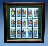 ENGLAND 1966 WORLD CUP WINNERS FRAMED CARD SET FREE POSTAGE