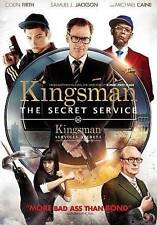 Kingsman The Secret Service-DVD-2015-Colin Firth-Widescreen-Like New-orig case