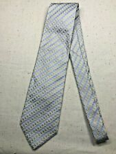 Vintage Men's Necktie Tie Classic Style Milana Blue Spotted Yellow Formal