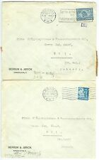 DENMARK: Lot 2 censored covers to Switzerland 1941-42.