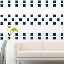 """100 of 4"""" Navy Blue Squares DIY Removable Peel & Stick Wall Vinyl Decal Sticker"""