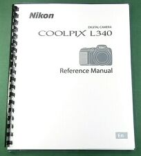 Nikon CoolPix L340 User's / Instruction: 135 Pages & Protective Covers