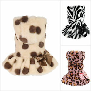 Fitwarm Fluffy Faux Fur Dog Coats Pet Jackets Cat Thermal Winter Clothes Hoodies