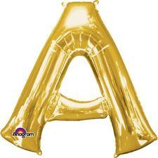"Anagram Letter a Gold 16"" Foil Balloon Birthday Celebration Decoration"