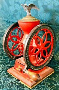 Antique Enterprise Mfg. Dbl-Wheel No.2? 4? Coffee Grinder Mill Philadelphia 1873