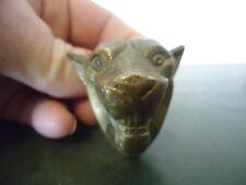 Applique en bronze tête de panthère , lion