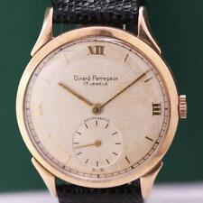 1950's GIRARD PERREGAUX 18K SOLID GOLD NICE LUGS MANUAL WIND MEN'S WATCH NR.