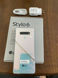 LG Stylo 6 (Q730MM) - 64GB - Sapphire Silver GSM UNLOCKED US & INTERNATIONAL