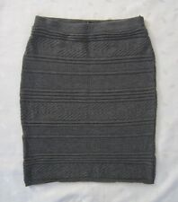 American Apparel Soft Stretch Knit Knee Length Dark Gray Sweater Skirt ~ Size M