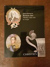 Sotheby's Russian Silver Antique Enamel Fabergé Catalog Rare!! June 2010