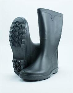Gummistiefel Arbeitsstiefel Baustiefel Regenstiefel Kunststoff schwarz Größe 37