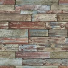 Shabby Sheek Fence Panel Wood Red Brown Blue 7319-06