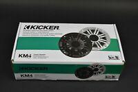 "KICKER 41KM44CW 4"" 150 Watt Weatherproof Marine Speakers KM4"