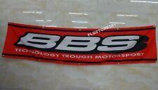 BBS Flag Banner 2x8ft Wheels Rims Car Shop Garage Wall Decor Large Banner