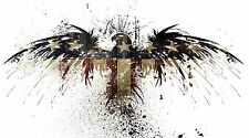 "Patriotic Eagle American Flag- 42"" x 24"" LARGE WALL POSTER PRINT NEW."