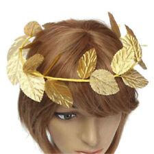 Greek Roman Goddess Gold Toga Leaves Laurel Wreath HeadBand Fancy Dress Costumes