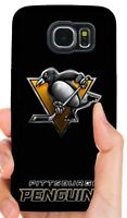 PITTSBURGH PENGUINS PHONE CASE COVER FOR SAMSUNG NOTE & GALAXY S4 S5 S6 S7 S8 S9