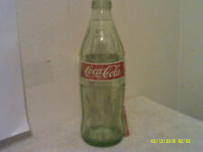 VINTAGE COCA-COLA GREEN GLASS  1 LITER SODA RETURN FOR DEPOSIT BOTTLE ....#2