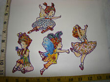 4 pc Fancy Nancy Fabric Applique Iron On Ons Set 3 New