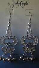Jody Coyote Earrings JC0805 New Sterling Silver dangle beaded