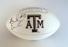 Texas A&M #13 MIKE EVANS Signed Autographed Logo Football COA! GO AGGIES!