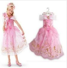 Kids Girls Costume  Princess Aurora Sleeping Beauty Inspired Dress Size 5/6
