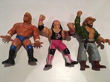 3 HASBRO VINTAGE WRESTLING ACTION FIGURE WWF / WWE-BRET HART SID Skinner