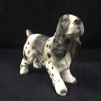 Realistic Enesco Japan 8 inch Cocker Spaniel Dog Porcelain Figurine 1960s