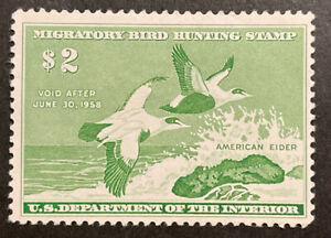 TDStamps: US Federal Duck Stamps Scott#RW24 Mint H OG Tiny Thin