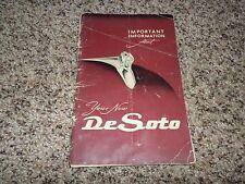 1951/1952 De Soto - OWNERS MANUAL