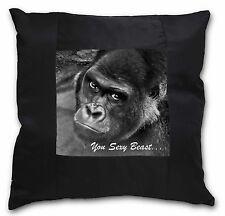 Gorilla 'You Sexy Beast' Black Border Satin Feel Cushion Cover With P, AM-12-CSB