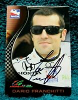 INDY 500 Trading Card AUTOGRAPHED 3 Time INDY 500 Winner DARIO FRANCHITTI