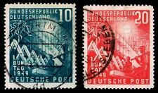 1949 GERMANY #665-66 RECONSTRUCTION LITHO WMK 286 - USED - VF - CV$45 (E#8912)