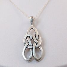 Celtic Love Knot Necklace - 925 Sterling Silver - Irish Pendant Gift Wife NEW