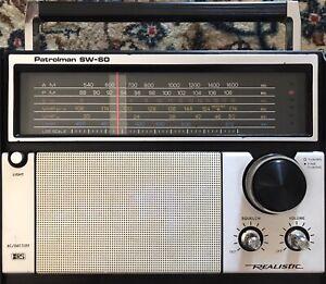 REALISTIC PATROLMAN SW-60 (12-779A) AM FM SW VHF RADIO - AU STOCK !
