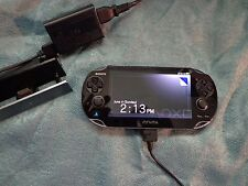 Sony Playstation PS Vita Black Handheld System PCH-1101(3G) with Cradle Charger