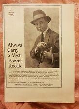 Vest Pocket Autographic Kodak - 1923 Advertisement