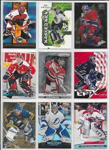 90 Card Lot of NHL Goalies!! Inserts!! Parallels!! Premium Base!! Stars!! HOF!!!