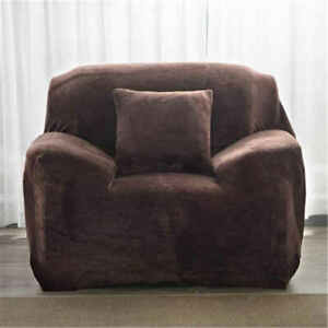 Plush Thick Sofa Cover for Living Room Stretch Corner Elastic Couch Covers Solid